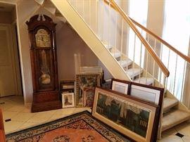 Howard Miller Grandfather Clock, Art, Prints