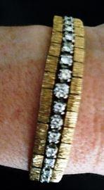 14K/ diamond vinatge bracelet
