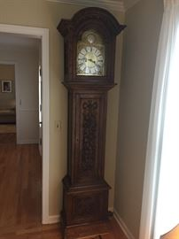 Antique OAK LEAVY GAINSBORO German Grandfather Clock **BUIY IT NOW PAYPAL** $3,000 or Best Offer