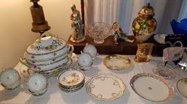 Herend, Cut Glass, Limoges China