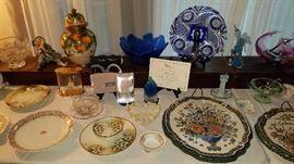 Art Glass, Daum, Steuben, Cut Glass, Limoges, Delft