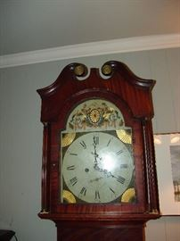 Face of tall case clock