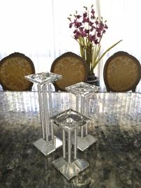 Shannon Crystal Candle Holders