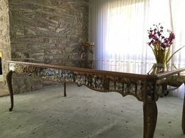 Italian Mirrored Dining Table