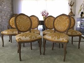 Set of Six Hollywood Regency Side Chairs