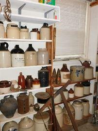 many,many jugs and mason jars