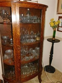 China cabinet with glass and crystal