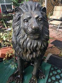 Bronze Lion by Erik Kramer