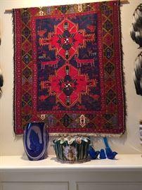 Genuine Navajo rug bought in Santa Fe, New Mexico