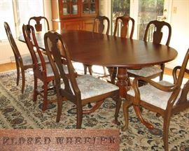 """Eldred Wheeler Dinning Table with 2 Leaves, 48"""" x 103"""" with Leaves"""
