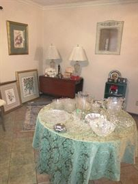 Beautiful crystal items and wall art