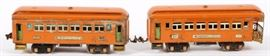 Lot#3058, LIONEL, O27 GAUGE, PRE-WAR, PASSENGER CARS, C1932, 2 PCS.includes: one #605 Pullman and one #606 Observation car.