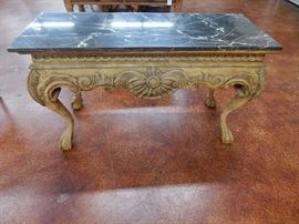 Ball & Claw marble top sofa table