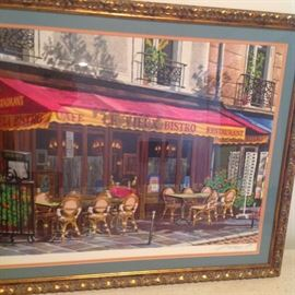 Arkady Paris bistro lithograph