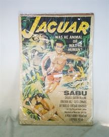 "Original Jaguar Movie Theater Poster ""Sabu"""