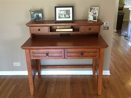 Desk with hutch - 2 separate pieces