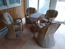 Wicker patio furniture, unpainted!