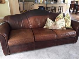 Leather couch very comfy