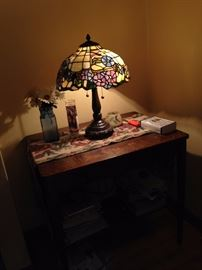 Smaller library table and another Tiffany style lamp