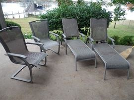 Two (2) more Patio Chairs and two (2) lounge chairs that fold up for storage