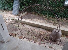 Fire Wood Storage Rack. Double Metal ring design.