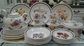 Portmerian Botanical China --Many pieces in beautiful condition