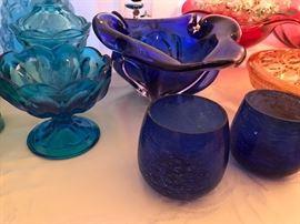 Beautiful colored glassware
