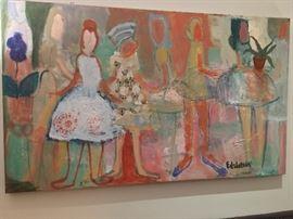Paul Edelstein oil painting 3'x5'
