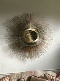 """SUNBURST"" WALL SCULPTURE BY FREDERICK PRESCOTT. Available for viewing by special appointment only. Kept offsite."