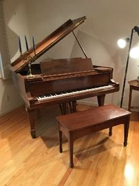 Baby Grand Piano. Good condition.