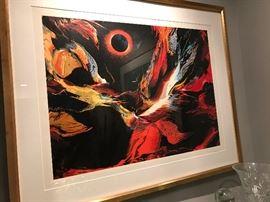 LEONARDO NEIMAN SERIGRAPH: POEMS OF FIRE 1-ECLIPSE