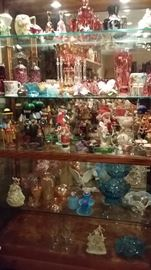Carnival glass, Mary Gregory, Nutcracker, Incense Smoker, Snowbabies, Snowbunnies