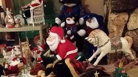 Santa, horse, christmas