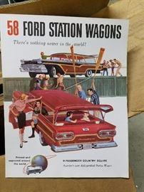 original vintage brochures