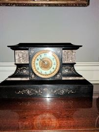 19th Century French Mantle Clock in  working condition.
