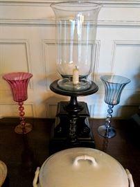 Cartier Clock Matching lamp / candle holder.