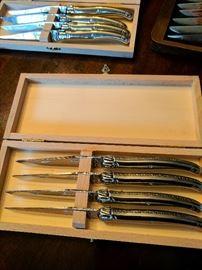 Laguiole Knife Set. Cast blades.