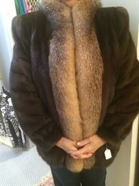 Another mink coat trimmed with fox