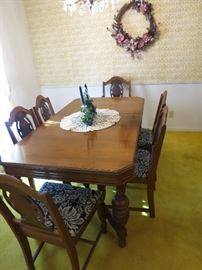 Solid Wood Vintage Table And Chairs. Great Condition!