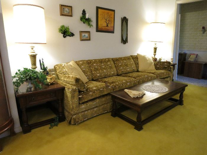 Vintage 8 Cushion Sofa And We Have The Love Seat.  Great Condition!
