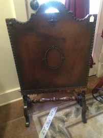 Unique antique firescreen