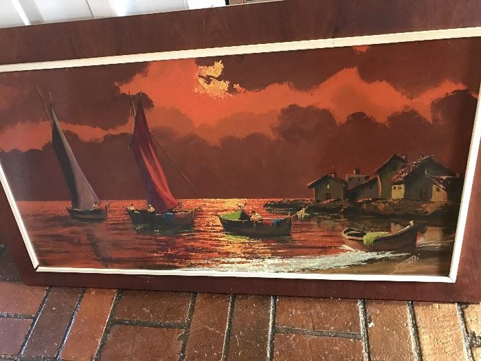 NAUTICAL SHIP BOATS FRAMED ART