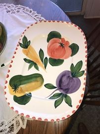DECORATIVE HAND PAINTED PLATTER -ITALY