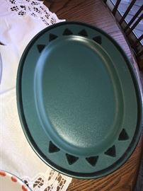 PFALTZGRAFF OVAL PLATTERS-GREEN AND BLUE-4 AVAILABLE