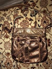 B. MAKOWSKI GOLD CROSSBODY BAG