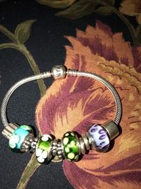 AUTHENTIC PANDORA BRACELETS- MURANO BEADS, CHARMS, CLIPS, SPACERS