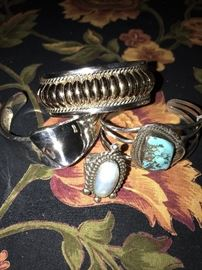 STERLING SILVER BRACELETS AND RING