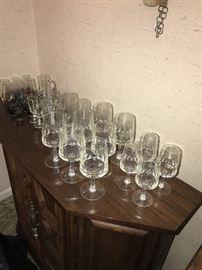 VINTAGE GLASSWARE, STEMWARE, CRYSTAL GOBLETS, WINE GLASSES, SHOT GLASSES AND MORE