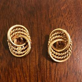 14K GOLD CLIP-ON EARRINGS