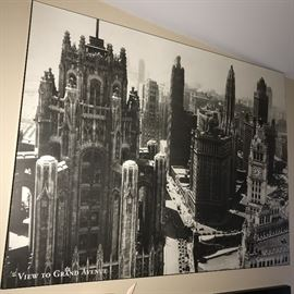HUGE PICTURE OF CHICAGO VIEW TO GRAND AVENUE 1930S